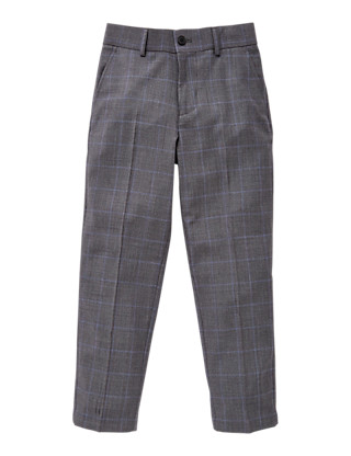 Checked Trousers (5-14 Years) Clothing