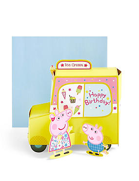 Birthday cards happy birthday greeting cards ms pop up peppa pigtrade ice cream van birthday card m4hsunfo