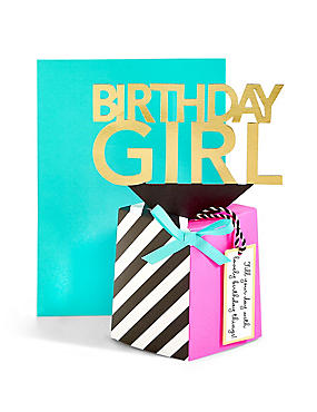 Pop-Up 3D Fun Birthday Girl Card