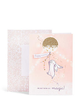 Bibi Bunny Confetti Balloon Birthday Card