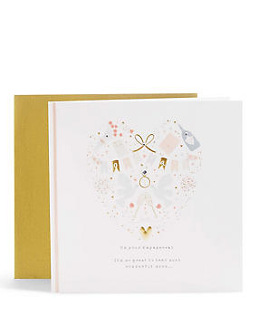 Beautiful Heart Engagement Card