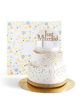 3D Tiered Wedding Cake Card