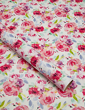 Painted Floral 2m Wrapping Paper