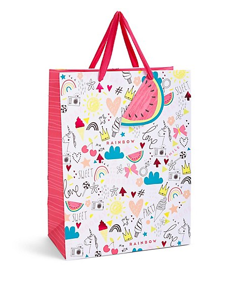 Yay Contemporary Illustration Large Gift Bag