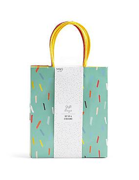 Set of 6 Medium Gift Bags, , catlanding