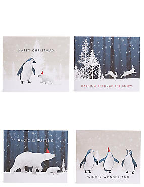 Arctic Animals Christmas Charity Cards Pack of 20, , catlanding