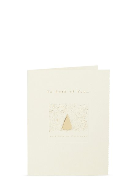 Both Of You Gold Tree Christmas Card