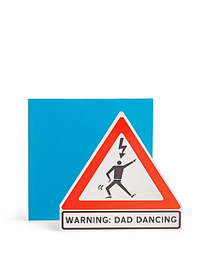 Warning Dad Dancing Father's Day Card
