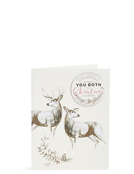 Both Of You Stag and Deer Christmas Card