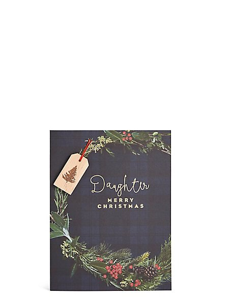 Daughter Wreath Christmas Card