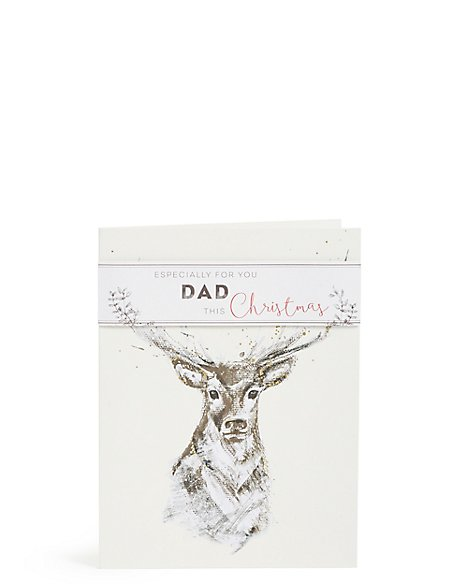 Dad Stag Christmas Card