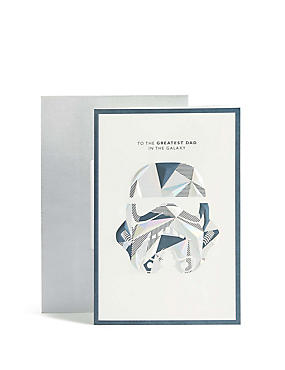 Holographic Storm trooper Star Wars™ Father's Day Card