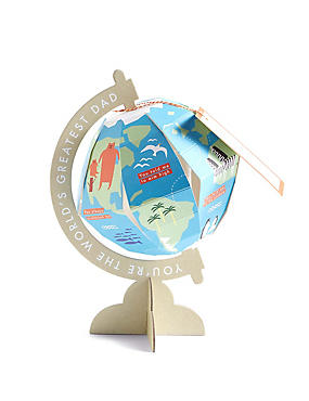 Pop-Up Globe Father's Day Card