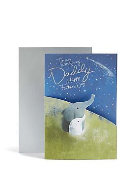 Daddy Elephant Father's Day Card