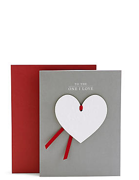 one i love heart keepsake valentines day card