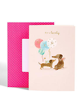 Dachshund Lovely Mum Mother's Day Card