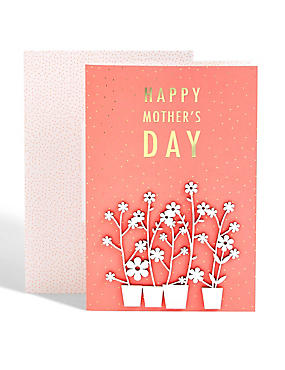 Flower Pots Mother's Day Card