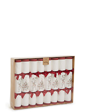 Luxury Santa and Tree Christmas Crackers Pack of 8