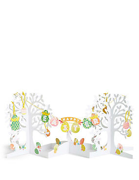 Pop-up Easter Tree Bunting Scene Card