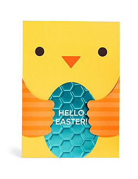 Cute Fold-Out Baby Chick Easter Card