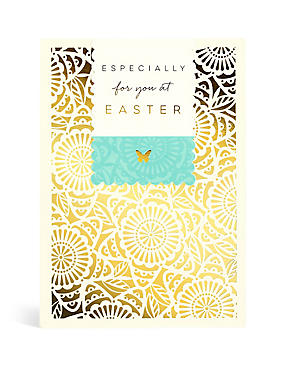 Laser Cut Floral Easter Card