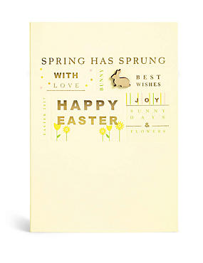 Spring Has Sprung Text Easter Card