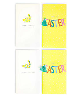 4 Bright Contemporary Easter Multipack Cards