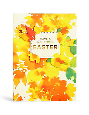 Bright Floral Easter Card