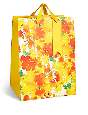 Watercolour Floral Large Easter Gift Bag