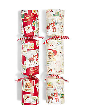 Joyeux Noel Santa Illustration Christmas Crackers
