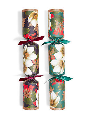 Festive Opulence Purple & Teal Floral Christmas Crackers