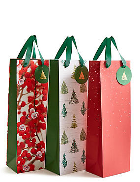 Red Multipack Christmas Bottle Bags