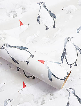 Arctic Animals Christmas Wrapping Paper 3m