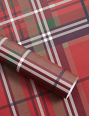 Tartan Christmas Wrapping Paper 4m