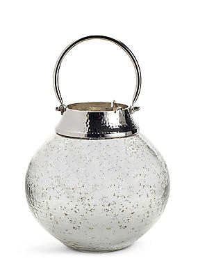 Mercury Large Glass & Metal Lantern