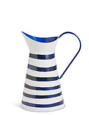 Striped Tin Jug