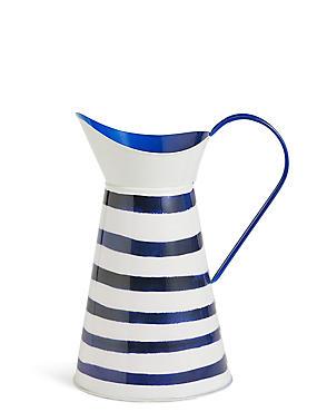 Striped Tin Jug, , catlanding