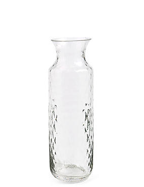 Tall Pressed Diamond Vase