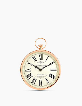 Fob Mantel Clock, COPPER ROSE, catlanding