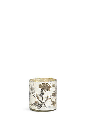Renee Mercury Decal Tea Light Holder