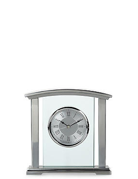Chrome & Glass Mantle Clock