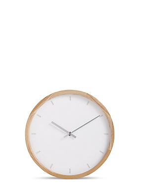 Wooden Edge Wall Clock