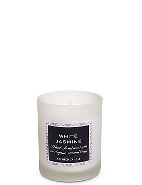 White Jasmin Filled Candle