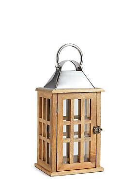 Medium Classic Window Lantern, NATURAL, catlanding