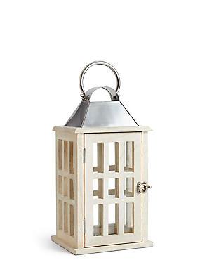 Medium Classic Window Lantern, WHITE, catlanding
