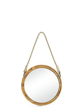 Wooden Round Mirror, , catlanding