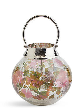 Bloom Large Glass & Metal Lantern