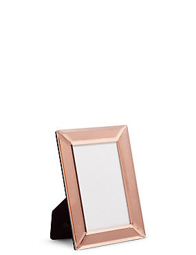Mirrored Photo Frame 10 x 15cm (4 x 6inch), ROSE, catlanding