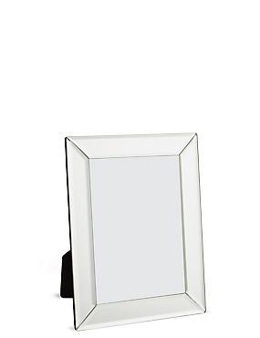 Mirrored Frame 13 x 18 cm (5 x 7inch), SILVER, catlanding