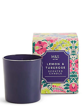 Lemon & Tuberose Scented Candle